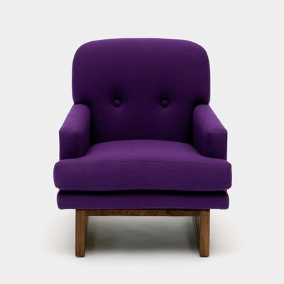 Melinda Arm Chair Color: Purple