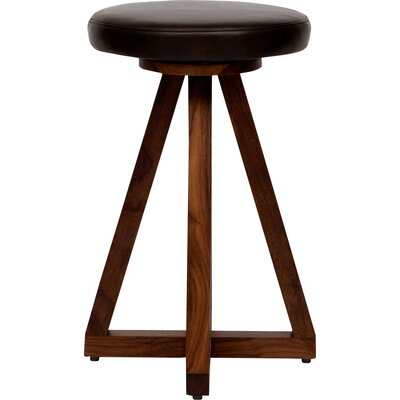 X 26 Swivel Bar Stool Color: Blackbean