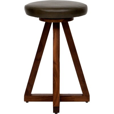 X 26 Swivel Bar Stool Color: Olive