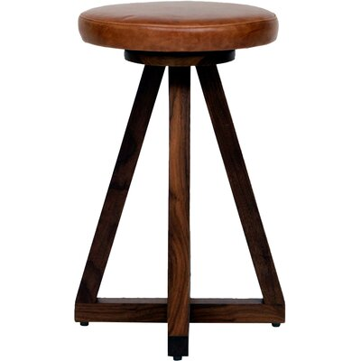 X 26 Swivel Bar Stool Color: Saddle