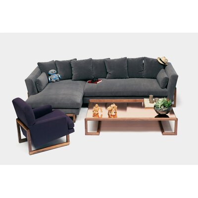 Sectional Orientation: Left Hand Facing, Upholstery: Metal Natural