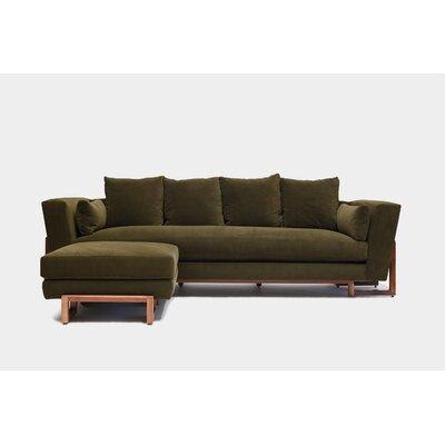 Sofa Upholstery: Forest Aged Velvet