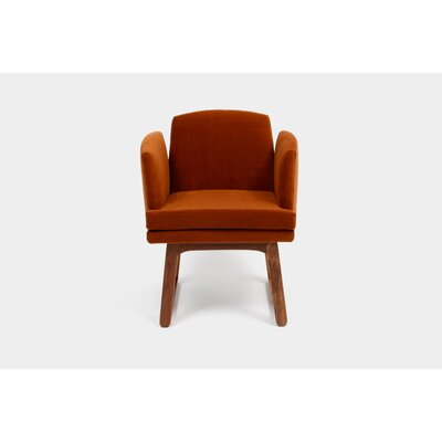 Allison Sled Upholstered Dining Chair Upholstery: Cognac