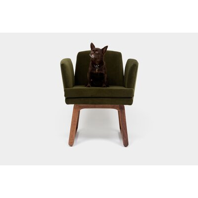 Allison Sled Upholstered Dining Chair Upholstery: Forest