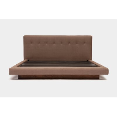 Upholstered Panel Bed Color: Earth Natural, Size: King