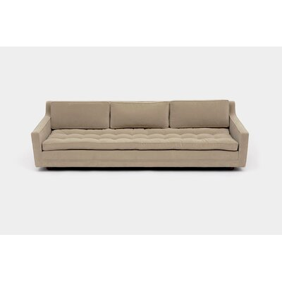 Up Three Seater Standard Sofa Upholstery: Aged Velvet Taupe