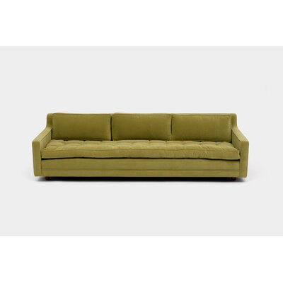 Up Three Seater Standard Sofa Upholstery: Aged Velvet Apple
