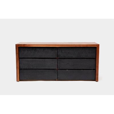 SQR Drawer Dresser Length: 60, Color: Solid Walnut and Reclaimed Wood