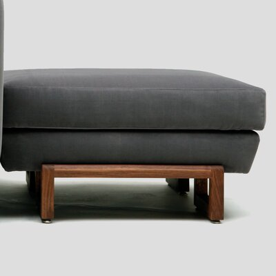 LRG Ottoman Upholstery: Canvas, Color: Graphite