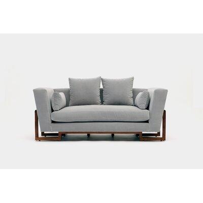Loveseat Upholstery: Fog Aged Velvet
