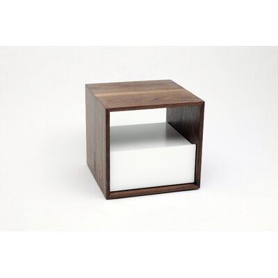 THN 1 Drawer Nightstand Color: White, Drawer Location: Top
