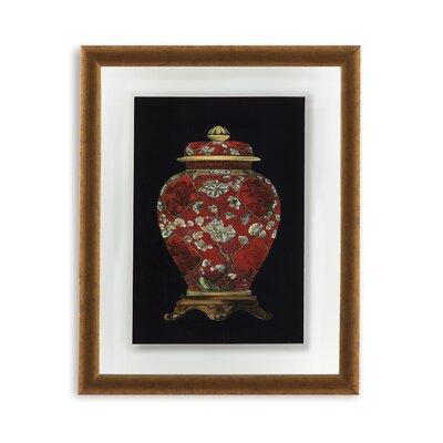Red Porcelain Vase Ii Framed Painting Print
