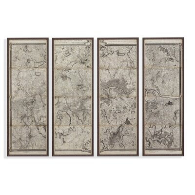 Map of London 3 Piece Framed Graphic Art Set