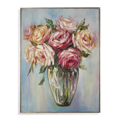 Hollywood Glam 'Rose Bouquet' Painting Print on Canvas