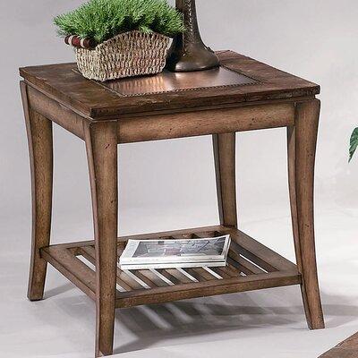 Cheap Bassett Mirror Sun Valley Rectangular End Table in Walnut (BMR1186)