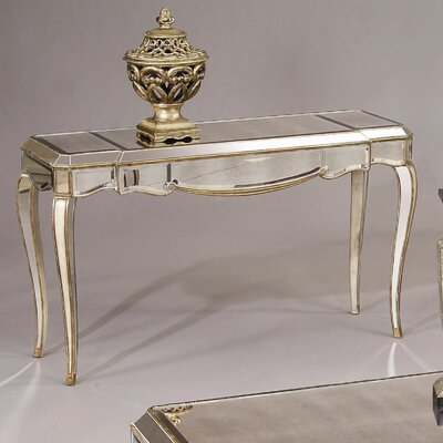 Cheap Bassett Mirror Collette Console Table in Antique Gold (BMR1147)