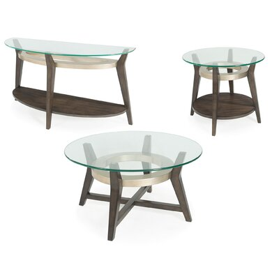 Wroblewski Round 3 Piece Coffee Table Set