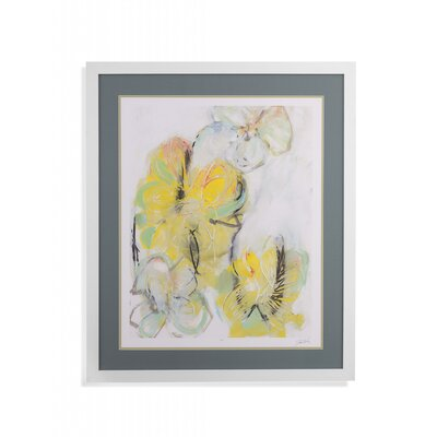 'Yellow Floral Abstract II' Framed Print