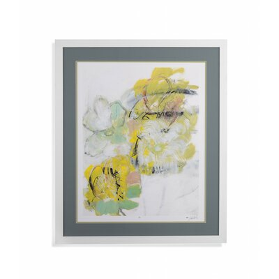 'Yellow Floral Abstract I' Framed Print