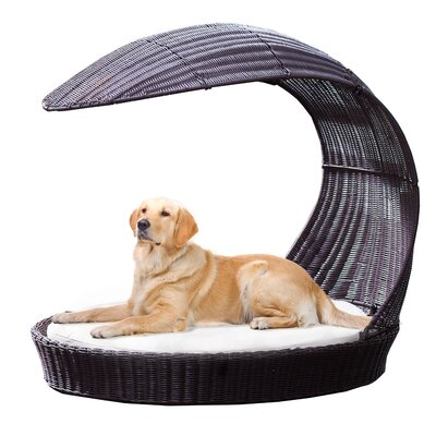 Outdoor Hooded Dog Chaise Lounge Size: Large, Color: Espresso