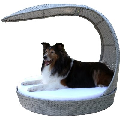 Astor Outdoor Hooded Dog Chaise Lounge Size: Extra Large, Color: Smoke