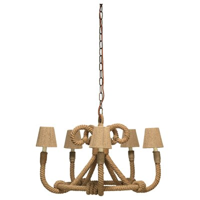 Jute 5-Light Candle-Style Chandelier