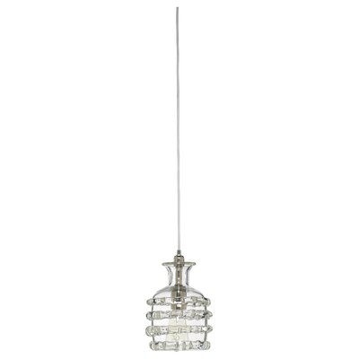 Ribbon 1-Light Mini Pendant Shade Color: Clear