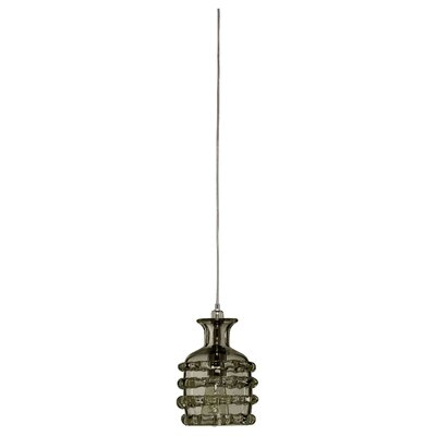 Ribbon 1-Light Mini Pendant Shade Color: Taupe