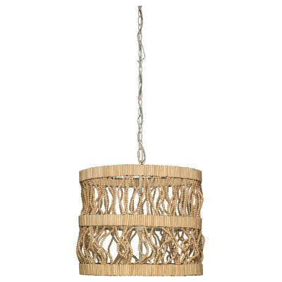 Tropos Drum 1-Light Drum Pendant Finish: Natural