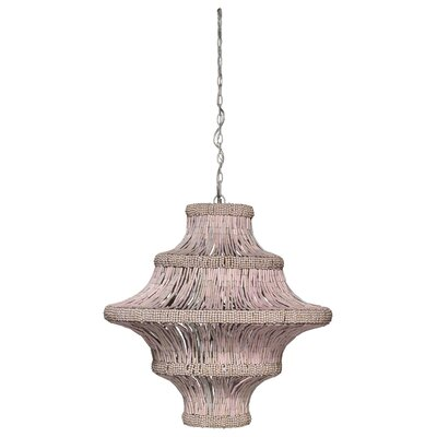 4-Light Lantern Pendant Finish: Blush