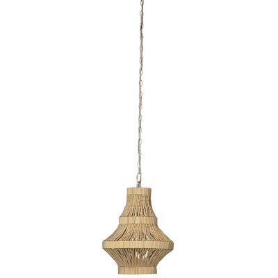 Camellia 1-Light Schoolhouse Pendant Finish: Natural