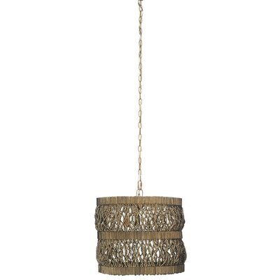 Tropos Drum 1-Light Drum Pendant Finish: Antique Gold