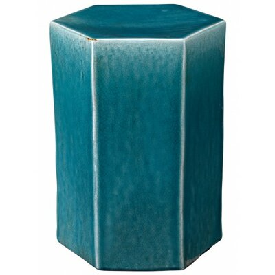 Porto End Table Color: Azure Ceramic