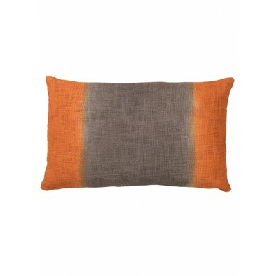 Marcus Cotton Lumbar Pillow Color: Gray/Orange
