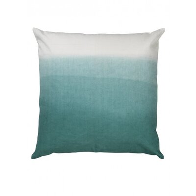 Fade Canvas Throw Pillow Color: Sky blue
