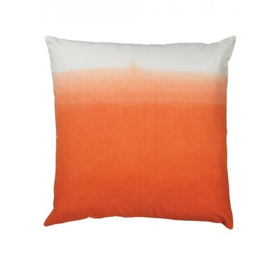 Fade Canvas Throw Pillow Color: Tangerine
