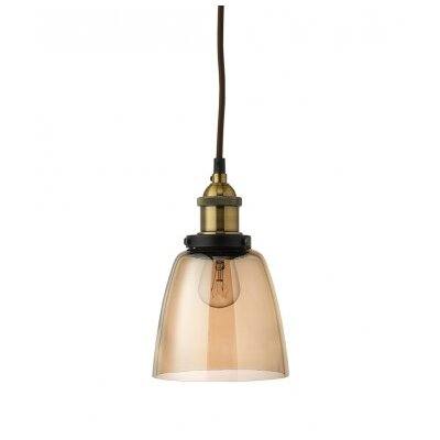 Factory 1-Light Mini Pendant Shade Color: Gold