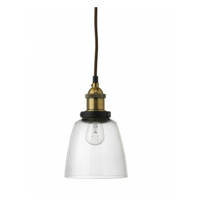 Factory 1-Light Mini Pendant Shade Color: Clear