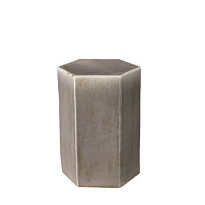 Porto End Table Color: Gray Ceramic
