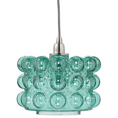 Cici 1-Light Mini Pendant Shade Color: Lake Blue