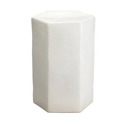 Porto End Table Color: White Ceramic
