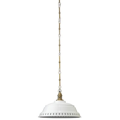 Canisteo 1-Light Inverted Pendant Shade Color: White