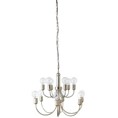 Lagunas 1-Light Candle Chandelier Finish: Silver
