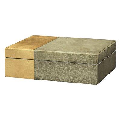 Danielle Decorative Box Color: Gray/Gold