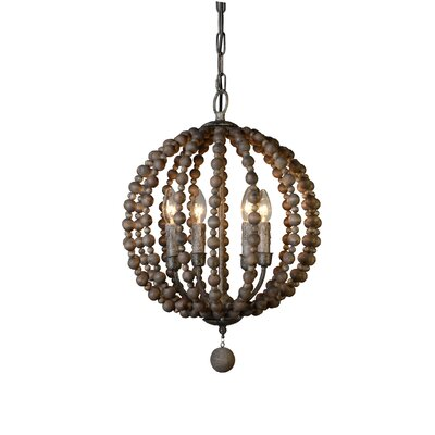 Roman 4-Light Globe Pendant
