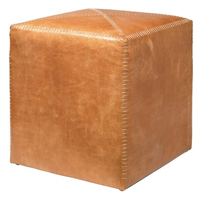 Buff Pouf Size: Large, Upholstery: Buff Leather