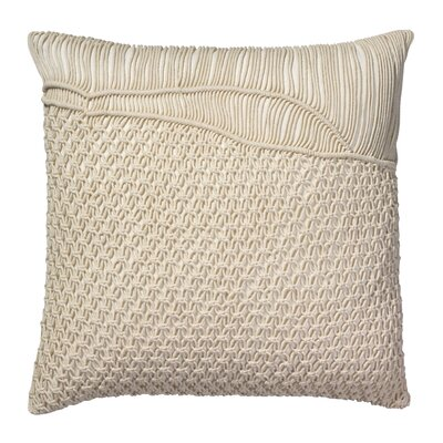 Kunkle Throw Pillow Color: Cream