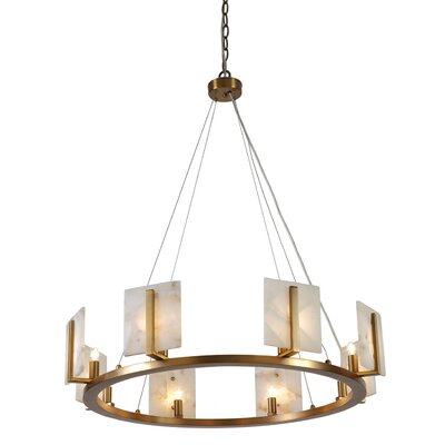 Innis Halo 8-Light Candle-Style Chandelier