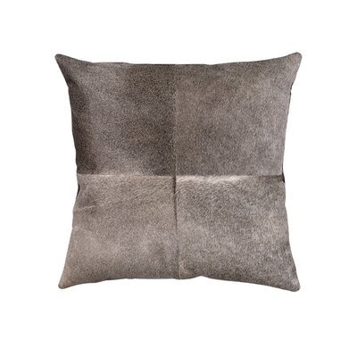 Wendler Hide Linen Throw Pillow Color: Gray