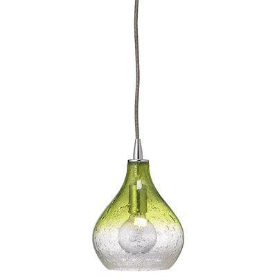 Silverstein Curved 1-Light Mini Pendant Size: Small, Color: Gradient Celadon Glass
